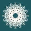 Beautiful snowflake with ornament. Vector  — Imagens vectoriais em stock