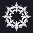 Beautiful snowflake with ornament. Vector — Vettoriali Stock