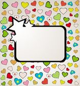 Valentines day background with hearts. Vector — Stock Vector