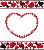 情人节背景用的心。矢量 — 图库矢量图片