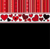 Valentines day background with hearts. Vector — Vector de stock