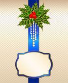 красивый рождественский фон с бантом. вектор — Cтоковый вектор