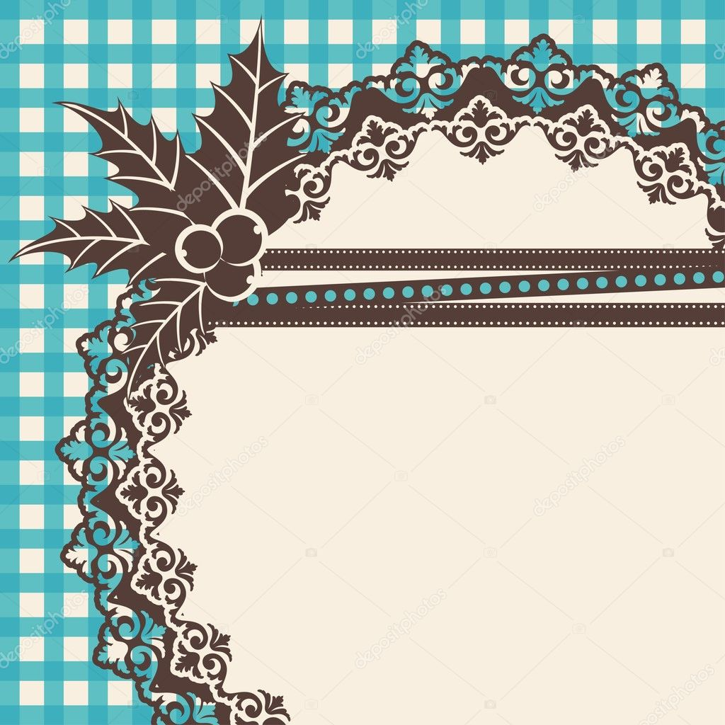 Beautiful vintage background with ornament. Vector  — Stockvektor #9443645
