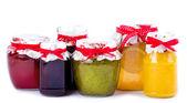 Jars with jam — Stock Photo