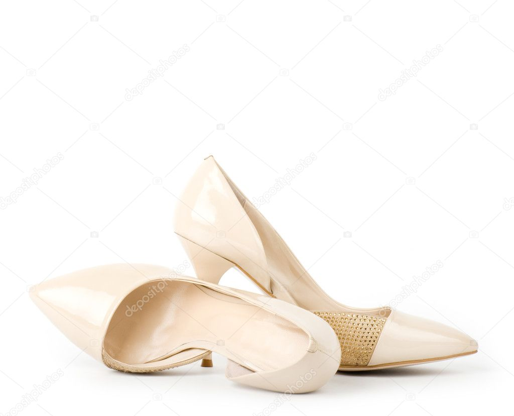 Sexy fashionable shoes isolated on white background.  Stock Photo #9703874