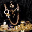 Stock Photo: Golden jewelry
