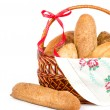 Large variety of bread — Stock Photo #9833432