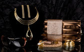 Golden jewelry — Stock Photo