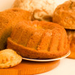 Large variety of bread — Stock Photo #9891409