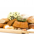 Large variety of bread — Stock Photo #9891669