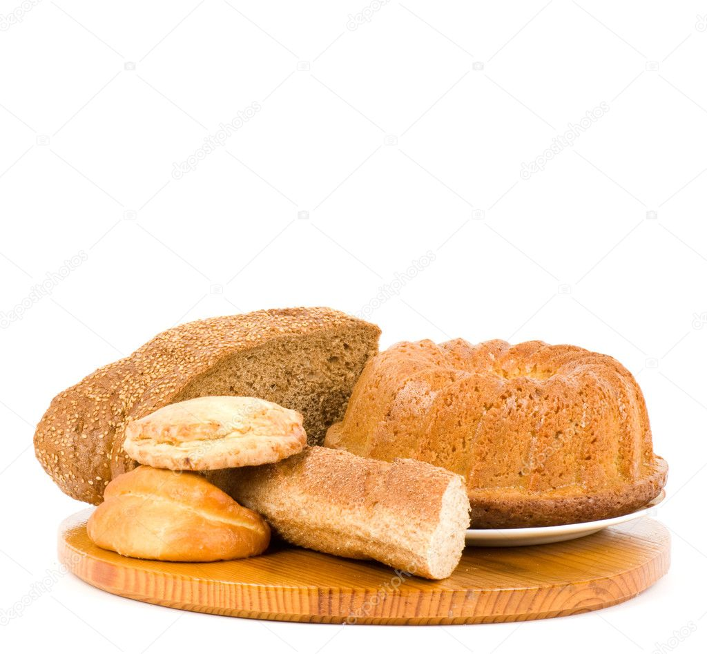 Large variety of bread — Stock Photo #9891720
