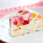 Homemade jelly cake — Stock Photo