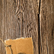 Stock Photo: Old wooden texture and cardboard blank