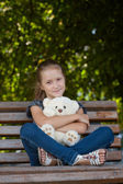 Girl at the park — Stock Photo