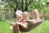 Children in a hammock — Stock Photo