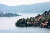 Town on a lake — Stock Photo