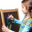 Drawing on a wooden easel — Stock Photo #7963631