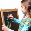 Stock Photo: Drawing on a wooden easel