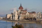 Hungarian parliament building, Budapest — Stock Photo