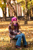 Smiling girl at the park — Foto de Stock