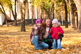 Family at the park — Stock Photo
