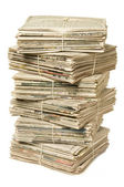 Stack of newspapers for recycling — Stock Photo