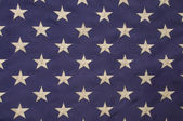 White stars on a field of blue representing the union on the Ame — Stock Photo