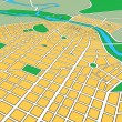 Royalty-Free Stock Photo: Map of Generic Urban City in Perspective Angle