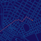 Digital Map Tracking with GPS — Stock Photo