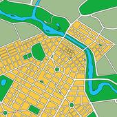 Karte von generischen urban city — Stockfoto