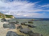 Côte de la mer pierreuse — Photo