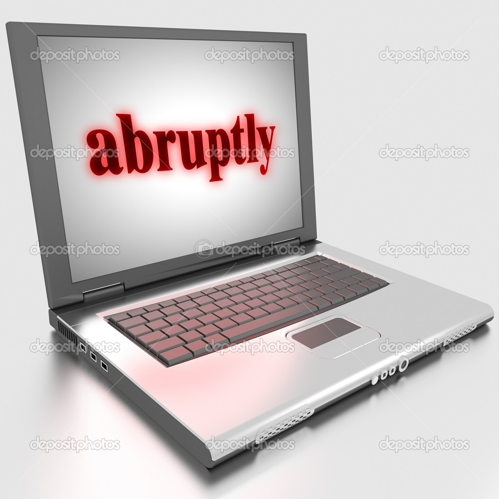 Word on laptop made in 3D  Stock Photo #10283493