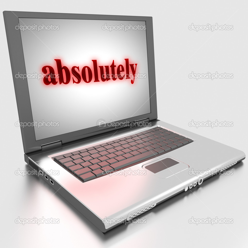 Word on laptop made in 3D — Stock Photo #10283503