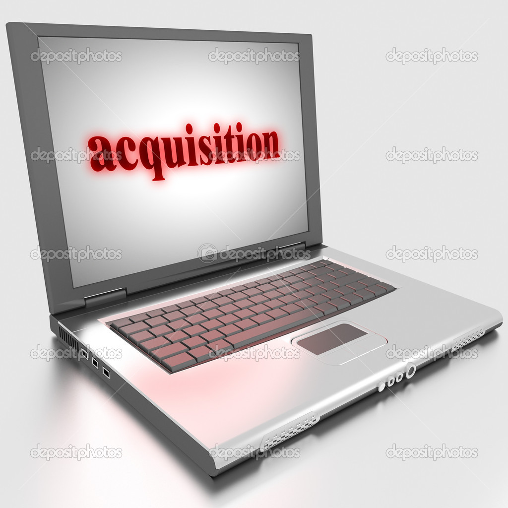 Word on laptop made in 3D — Stock Photo #10283506