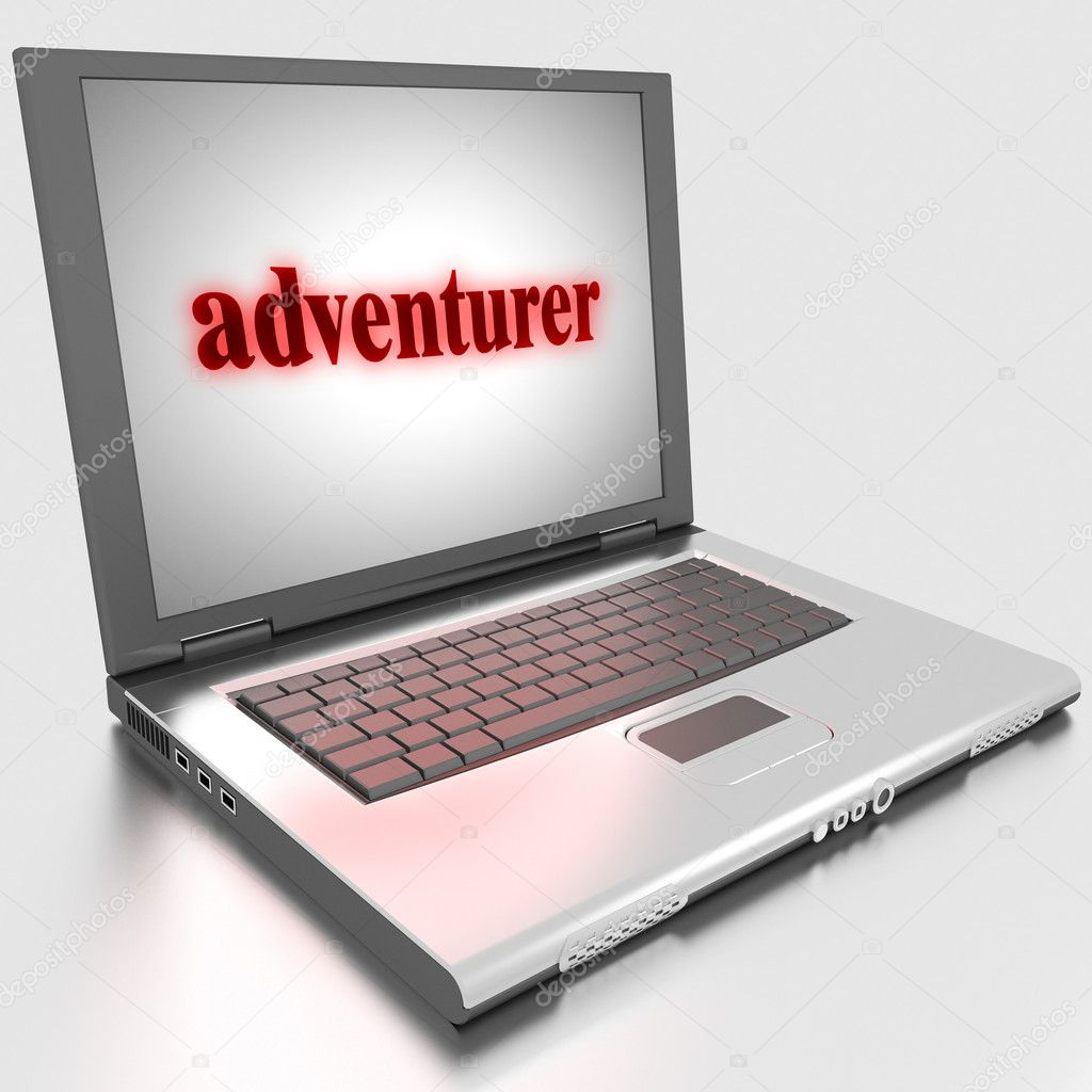Word on laptop made in 3D — Stock Photo #10283508