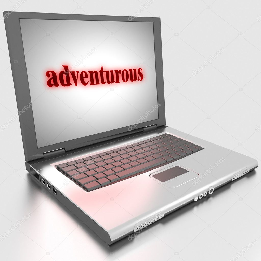 Word on laptop made in 3D — Stock Photo #10283512
