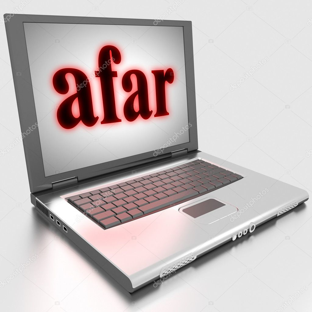 Word on laptop made in 3D — Stock Photo #10283561