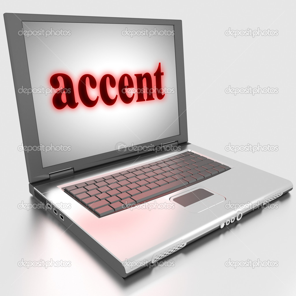 Word on laptop made in 3D — Stock Photo #10283563