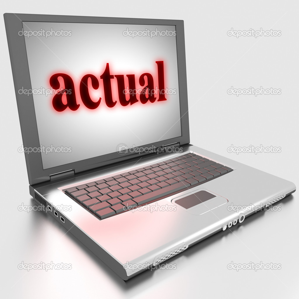 Word on laptop made in 3D — Stock Photo #10283579