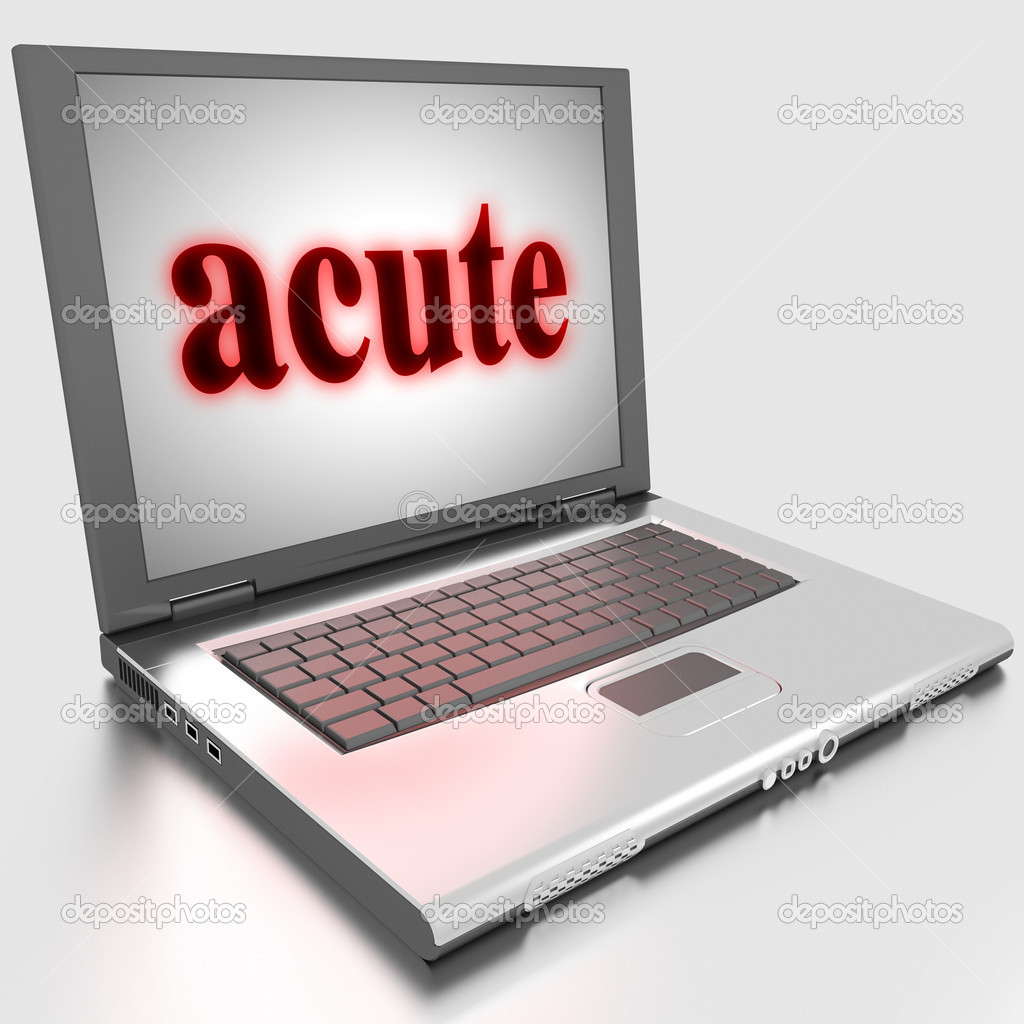 Word on laptop made in 3D — Stock Photo #10283589