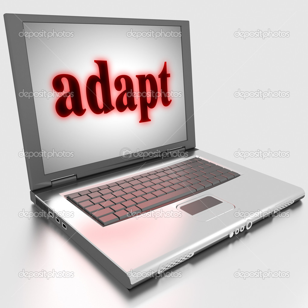 Word on laptop made in 3D  Stock Photo #10283593