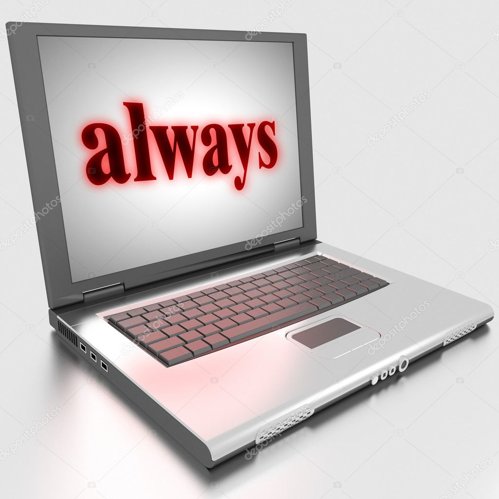Word on laptop made in 3D — Stock Photo #10283851
