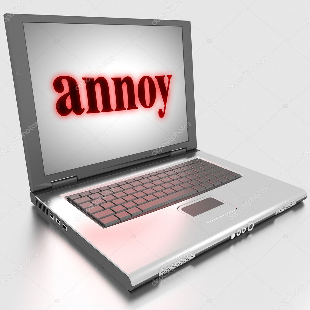 Word on laptop made in 3D — Stock Photo #10283870