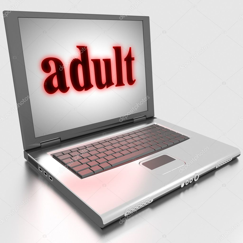 Word on laptop made in 3D — Stock Photo #10283873