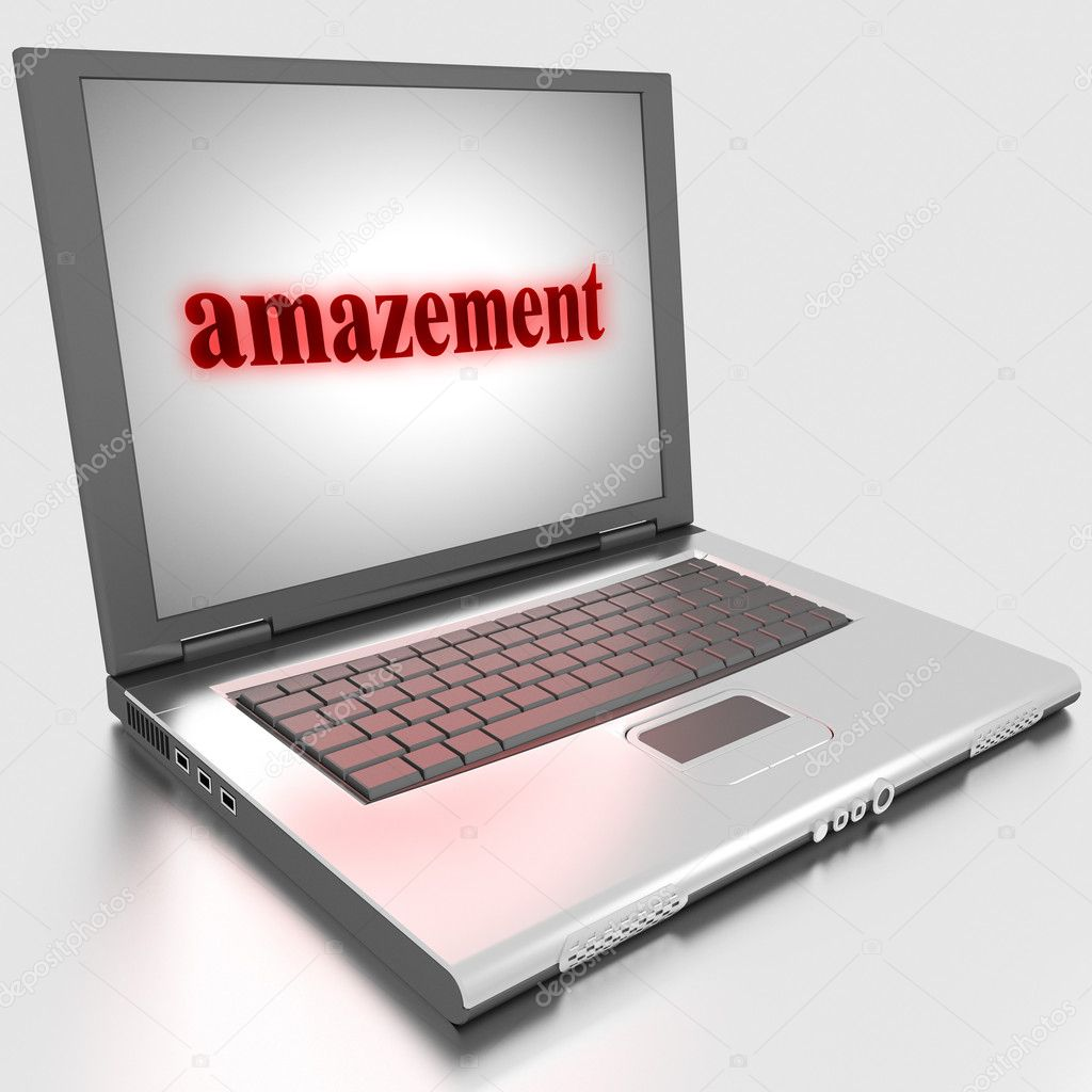 Word on laptop made in 3D  Stock Photo #10283880