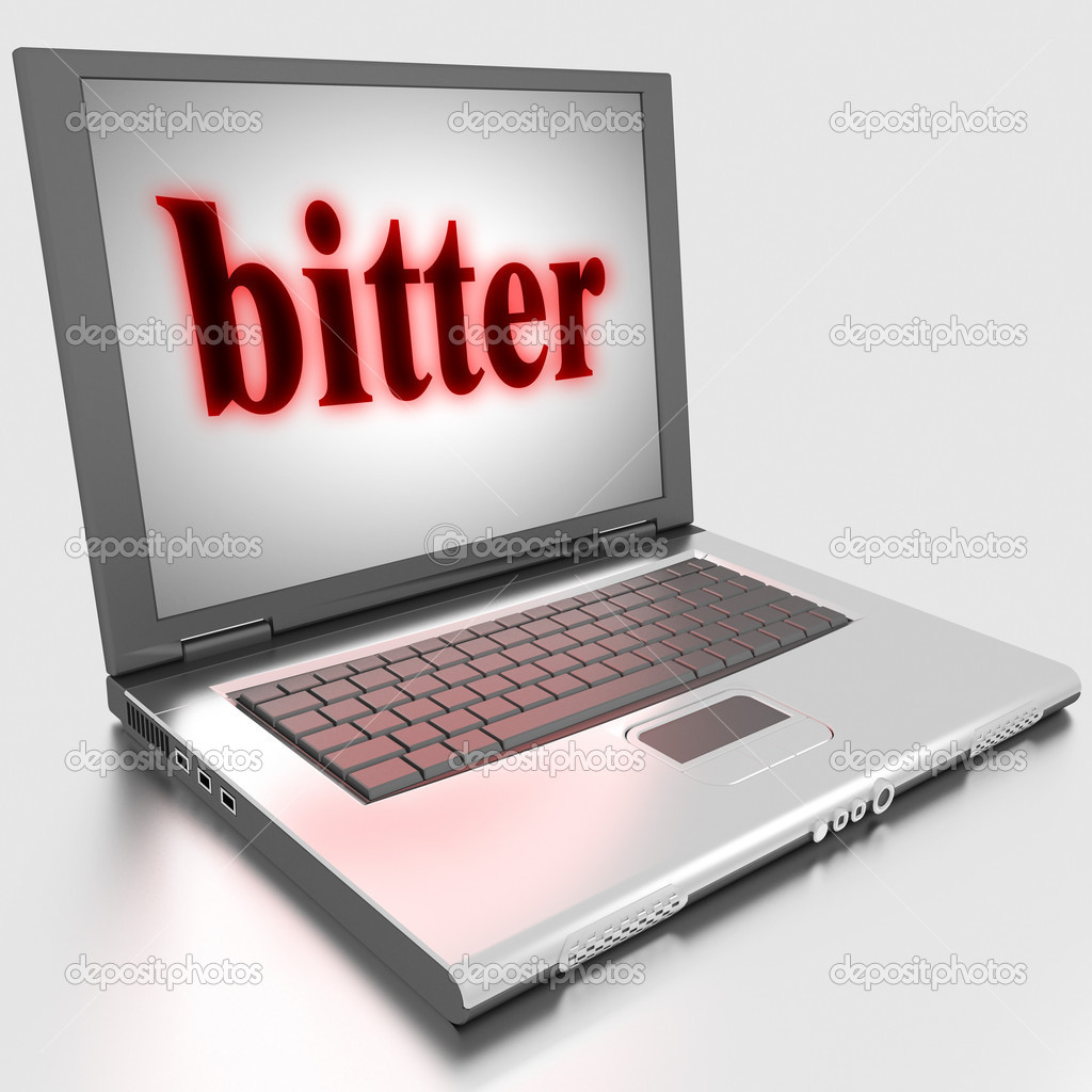 Word on laptop made in 3D — Stock Photo #10299368