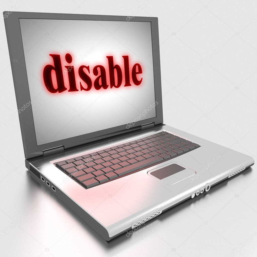 Word on laptop made in 3D — Stock Photo #10306876
