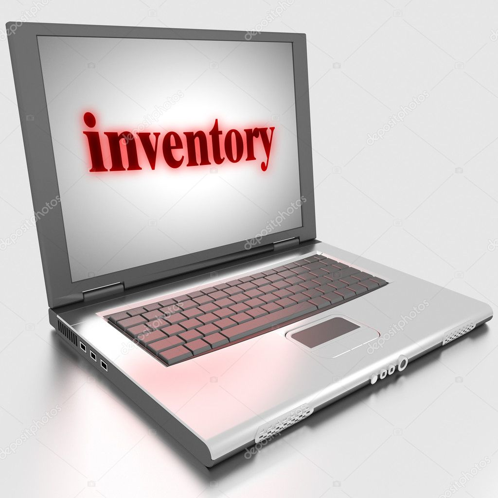 Word on laptop made in 3D — Stock Photo #10315351