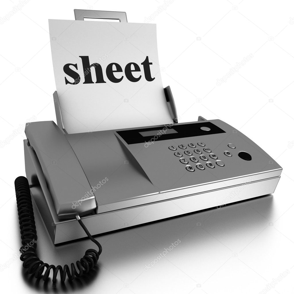 Word printed on fax on white background — Stock Photo #10438603