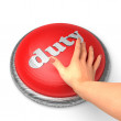 Hand pushing the button — Stockfoto